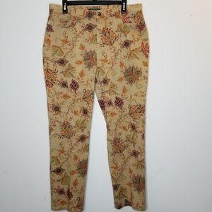 Lauren Ralph Lauren Tan Paisley Floral Pants 14